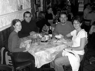 Eating in Little Italy with cousins - Dan & Tasha